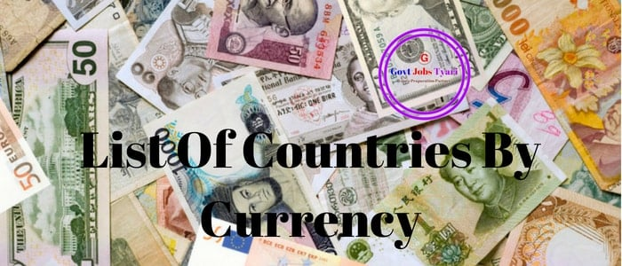 List of Currency Symbols With Country Name | World Currencies Symbols