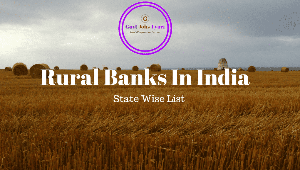 List of Regional Rural Banks In India 2018   List of RRBs In India 2018